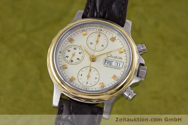 GLASHÜTTE CHRONOGRAPHE ACIER / OR AUTOMATIQUE KAL. ETA 7750 [153008]