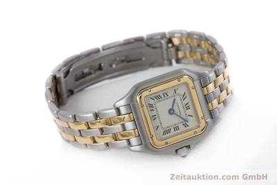 CARTIER PANTHERE STEEL / GOLD QUARTZ KAL. 157 [153053]