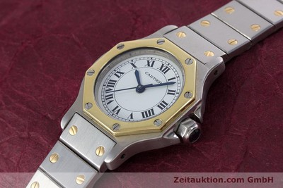 CARTIER SANTOS STEEL / GOLD AUTOMATIC KAL. ETA 2670 [153095]