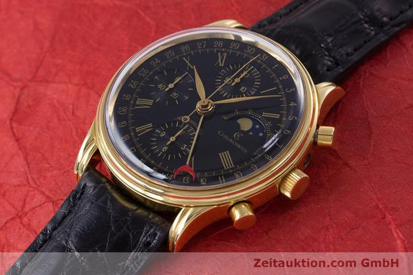 Used luxury watch Chronoswiss A. Rochat chronograph gold-plated automatic Kal. Valj.  7750 Ref. 77990  | 153112 01