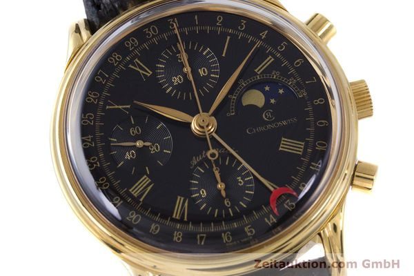 Used luxury watch Chronoswiss A. Rochat chronograph gold-plated automatic Kal. Valj.  7750 Ref. 77990  | 153112 02