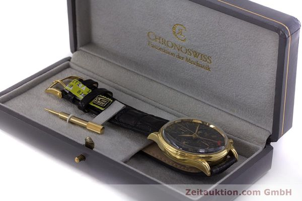 Used luxury watch Chronoswiss A. Rochat chronograph gold-plated automatic Kal. Valj.  7750 Ref. 77990  | 153112 07