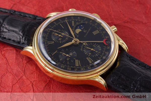 Used luxury watch Chronoswiss A. Rochat chronograph gold-plated automatic Kal. Valj.  7750 Ref. 77990  | 153112 14