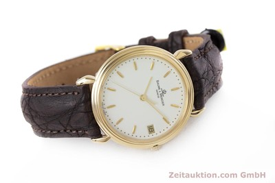BAUME & MERCIER 18K (0,750) RONDE GOLD HERRENUHR MEDIUM VP: 6300,- EURO [153121]