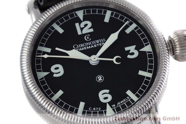 Used luxury watch Chronoswiss Timemaster steel manual winding Kal. 672 Ref. CH2633  | 153132 02
