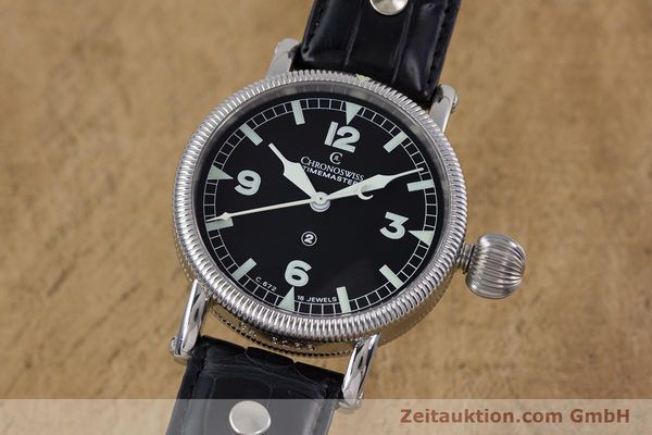 Used luxury watch Chronoswiss Timemaster steel manual winding Kal. 672 Ref. CH2633  | 153132 04