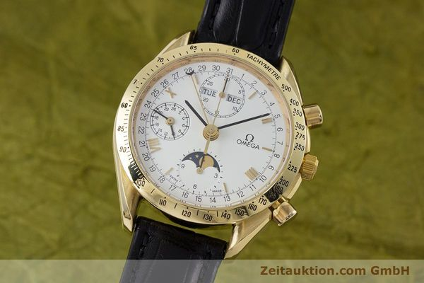OMEGA SPEEDMASTER CHRONOGRAPHE OR 18 CT AUTOMATIQUE KAL. 1150 VAL. 7751 LP: 14200EUR [153162]