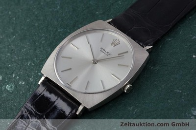ROLEX 18 CT WHITE GOLD MANUAL WINDING KAL. 1600 LP: 5000EUR VINTAGE [153168]