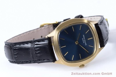 PATEK PHILIPPE LADY 18K GOLD ELLIPSE HANDAUFZUG 4216 DAMENUHR VP: 19930,- EURO [153170]