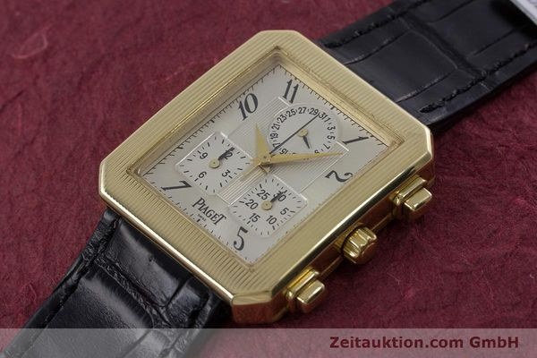 Used luxury watch Piaget Protocol chronograph 18 ct gold quartz Kal. 212P Ref. 14254  | 153181 01