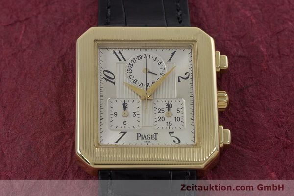Used luxury watch Piaget Protocol chronograph 18 ct gold quartz Kal. 212P Ref. 14254  | 153181 13