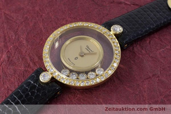gebrauchte Luxusuhr Chopard Happy Diamonds 18k Gold Quarz Kal. F.H.F. 101001 Ref. 4052  | 153211 01