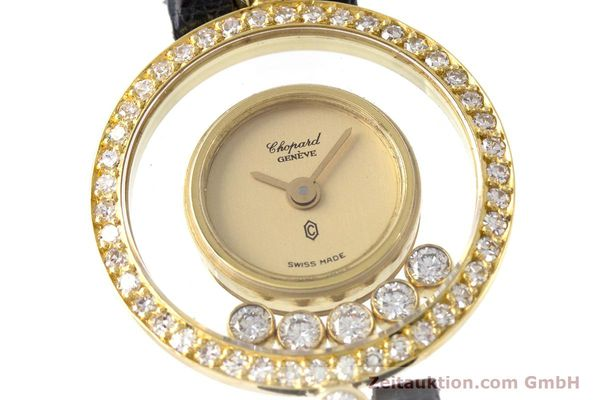 gebrauchte Luxusuhr Chopard Happy Diamonds 18k Gold Quarz Kal. F.H.F. 101001 Ref. 4052  | 153211 02