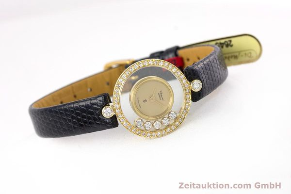 gebrauchte Luxusuhr Chopard Happy Diamonds 18k Gold Quarz Kal. F.H.F. 101001 Ref. 4052  | 153211 03