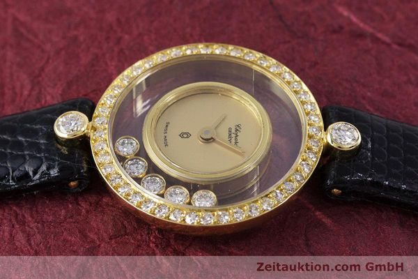 gebrauchte Luxusuhr Chopard Happy Diamonds 18k Gold Quarz Kal. F.H.F. 101001 Ref. 4052  | 153211 05