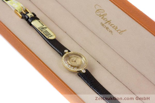 gebrauchte Luxusuhr Chopard Happy Diamonds 18k Gold Quarz Kal. F.H.F. 101001 Ref. 4052  | 153211 07