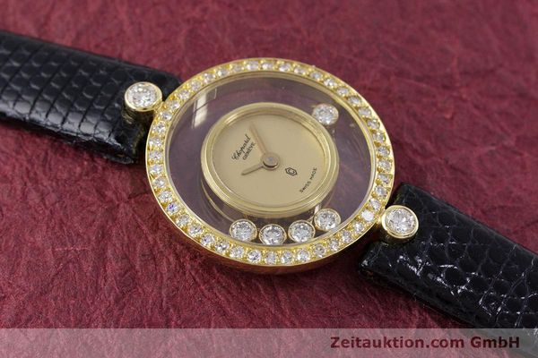 gebrauchte Luxusuhr Chopard Happy Diamonds 18k Gold Quarz Kal. F.H.F. 101001 Ref. 4052  | 153211 10