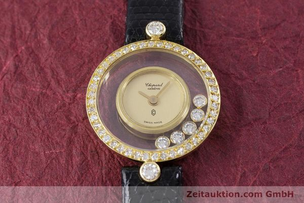 gebrauchte Luxusuhr Chopard Happy Diamonds 18k Gold Quarz Kal. F.H.F. 101001 Ref. 4052  | 153211 11