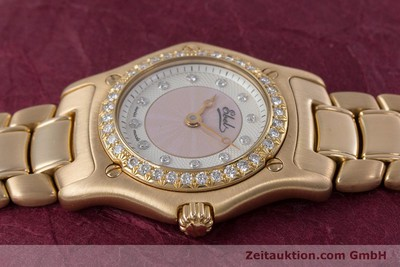 EBEL 1911 18 CT RED GOLD QUARTZ KAL. 90 LP: 14500EUR [153239]