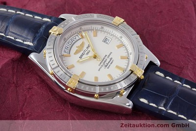 BREITLING HEADWIND COCKPIT STAHL / GOLD CHRONOMETER DAY DATE B45355 VP: 2990,- Euro [153269]