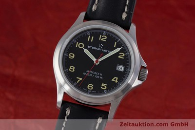 ETERNA AIRFORCE STEEL AUTOMATIC KAL. ETA 2824-2 LP: 1610EUR [153280]
