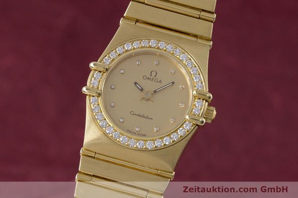 OMEGA LADY 18K GOLD CONSTELLATION DIAMANTEN DAMENUHR VP: 22100,- EURO [153292]