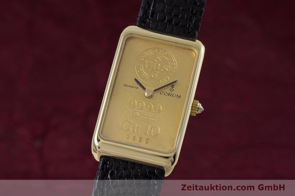CORUM GOLDBARREN 18 CT GOLD QUARTZ KAL. 602.1 [153294]
