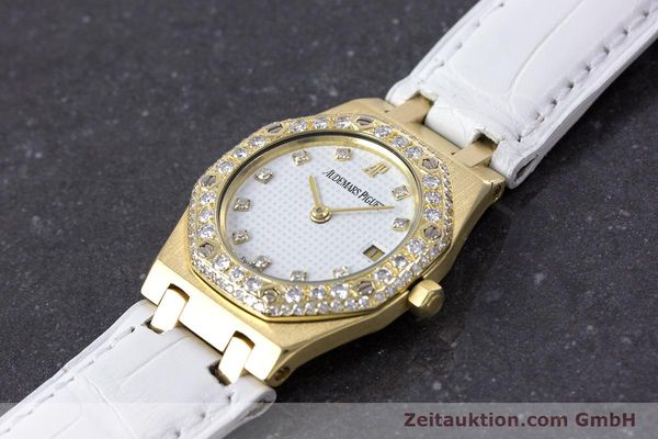 Used luxury watch Audemars Piguet Royal Oak 18 ct gold quartz Kal. 2610 Ref. C50375  | 153296 01