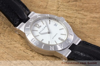 BVLGARI DIAGONO 18 CT WHITE GOLD AUTOMATIC KAL. 220MBBV LP: 16700EUR [153311]