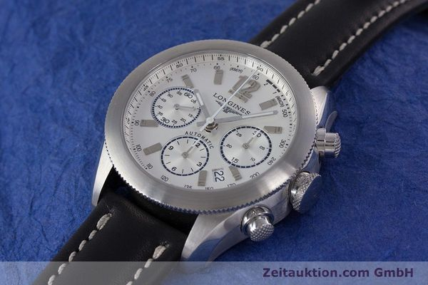 Used luxury watch Longines Grande Vitesse chronograph steel automatic Kal. L683.2 Ref. L3.635.4  | 153347 01