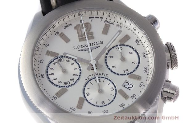 Used luxury watch Longines Grande Vitesse chronograph steel automatic Kal. L683.2 Ref. L3.635.4  | 153347 02