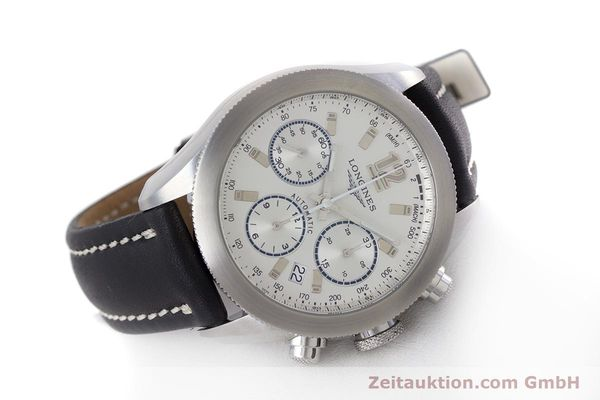 Used luxury watch Longines Grande Vitesse chronograph steel automatic Kal. L683.2 Ref. L3.635.4  | 153347 03