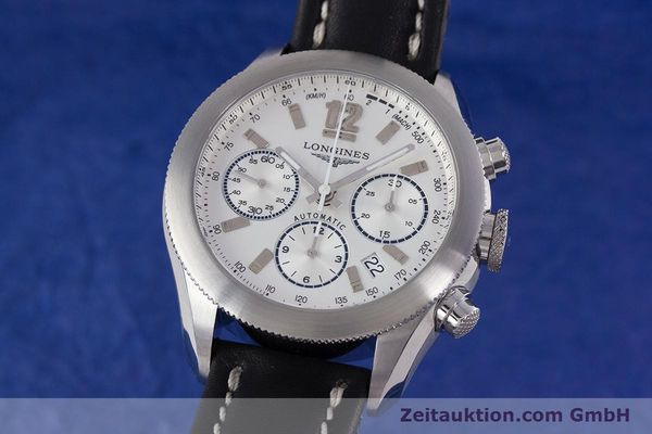 Used luxury watch Longines Grande Vitesse chronograph steel automatic Kal. L683.2 Ref. L3.635.4  | 153347 04