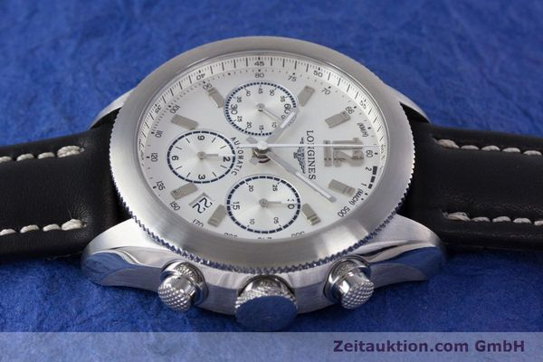 Used luxury watch Longines Grande Vitesse chronograph steel automatic Kal. L683.2 Ref. L3.635.4  | 153347 05