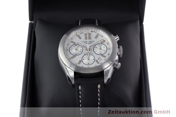 Used luxury watch Longines Grande Vitesse chronograph steel automatic Kal. L683.2 Ref. L3.635.4  | 153347 07