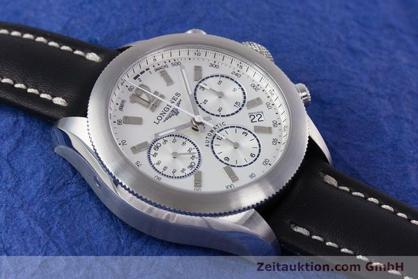 Used luxury watch Longines Grande Vitesse chronograph steel automatic Kal. L683.2 Ref. L3.635.4  | 153347 14