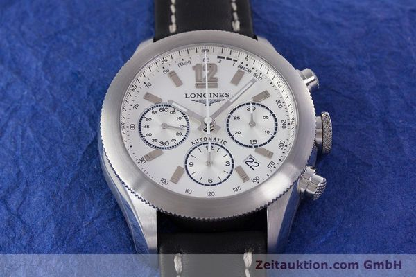 Used luxury watch Longines Grande Vitesse chronograph steel automatic Kal. L683.2 Ref. L3.635.4  | 153347 15