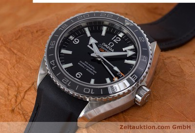 OMEGA SEAMASTER PLANET OCEAN GMT CO-AXIAL STAHL AUTOMATIK GLASBODEN NP: 6200,- Euro [153411]