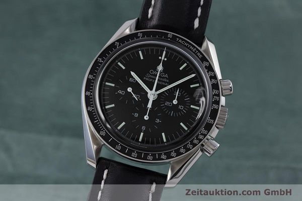 OMEGA MOONWATCH SPEEDMASTER CHRONOGRAPH HANDAUFZUG CAL 1863 GLASBODEN VP: 4100,- [153422]