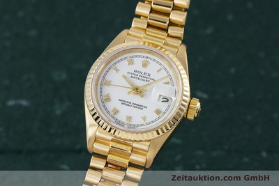 ROLEX LADY 18K (0,750) GOLD DATEJUST AUTOMATIK DAMENUHR 69178 VP: 20600,- EURO [153429]