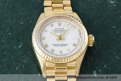 ROLEX LADY DATEJUST 18 CT GOLD AUTOMATIC KAL. 3135 LP: 20600EUR [153429]