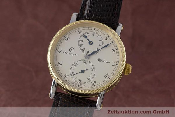 CHRONOSWISS REGULATEUR EDELSTAHL / GOLD HANDAUFZUG CH6322 VP: 5200,- EURO [153430]