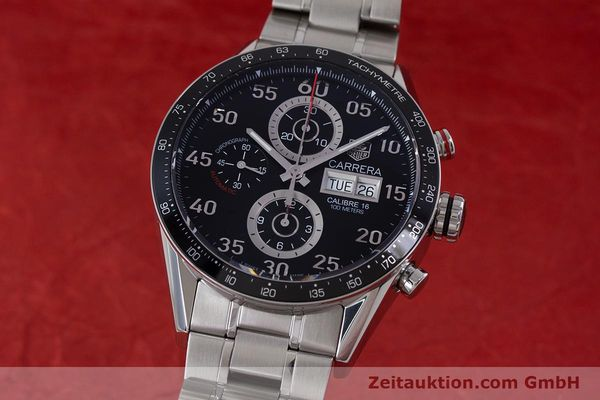 TAG HEUER CARRERA DAY-DATE CHRONOGRAPH AUTOMATIK STAHL CAL 16 NP: 4650,- EURO [153434]