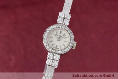 CHOPARD LADY 18K (0,750) WEISS GOLD DAMENUHR DIAMANTEN HANDAUFZUG VP: 19750,- Euro [153450]