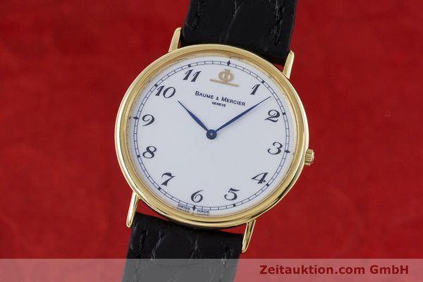 BAUME & MERCIER LADY 18K (0,750) RONDE GOLD DAMENUHR VP: 6300,- EURO [153462]