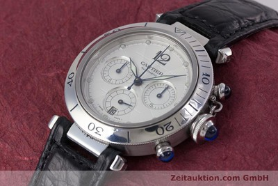 CARTIER PASHA CHRONOGRAPH STEEL AUTOMATIC KAL. 205 [153478]