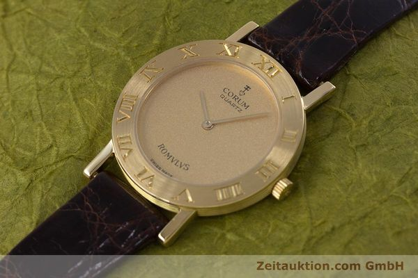 Used luxury watch Corum Romulus 18 ct gold quartz Kal. ETA 210.001 Ref. 50.201.56  | 153483 01