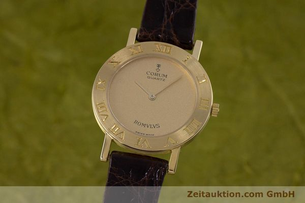 Used luxury watch Corum Romulus 18 ct gold quartz Kal. ETA 210.001 Ref. 50.201.56  | 153483 04