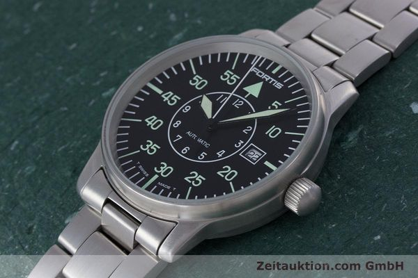 Used luxury watch Fortis Flieger steel automatic Kal. ETA 2824-2 Ref. 595.10.46  | 153496 01