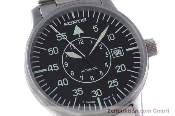 Used luxury watch Fortis Flieger steel automatic Kal. ETA 2824-2 Ref. 595.10.46  | 153496 02
